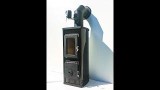 Отопительно варочная печь камин Verona бежевая ( буржуйка, каминофен ) від компанії House heat - відео
