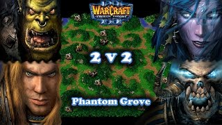 Grubby | Warcraft 3 The Frozen Throne | 2v2 ORC/HU vs. NE/UD - Phantom Grove