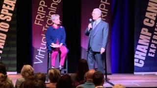Robert Fripp of King Crimson & Patricia Fripp: Saying humble, Estonian medal