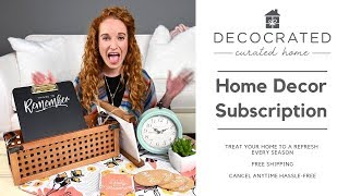DecoCrated Home Decor Subscription Box Unboxing & Review
