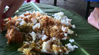 preview picture of video 'Banana Leaf Curry, Sri Asoka Corner, Stadium Ipoh, Food Hunt, Gerryko Malaysia'