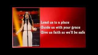 Jessica Sanchez - The Prayer with Lyrics