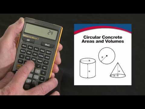 Construction Master 5 - Circular Area & Volume