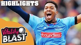 Wright Smashes Sussex to Final | Sussex v Somerset | Vitality Blast 2018 - Highlights
