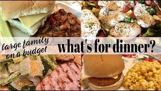 WHAT'S FOR DINNER? | 💲FAMILY OF 7 ON A BUDGET💲REAL LIFE MEAL IDEAS | MAY 19-25, 2019