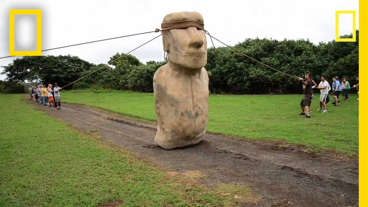 Were The Giant Easter Island Statues Simply Walked To Where We Found Them?