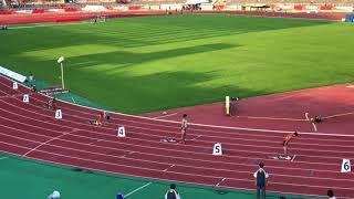 えひめ国体 400 リレー準決勝  飯塚選手 静岡代表  20171009
