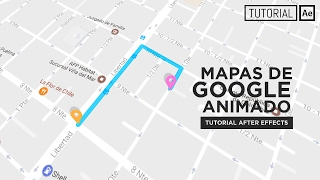 6 included animated maps after effects template mapas animado google maps tutorial after effects espaol sciox Images