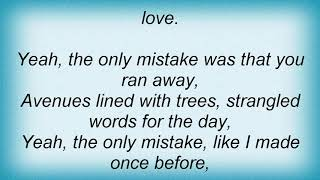 Joy Division - The Only Mistake Lyrics