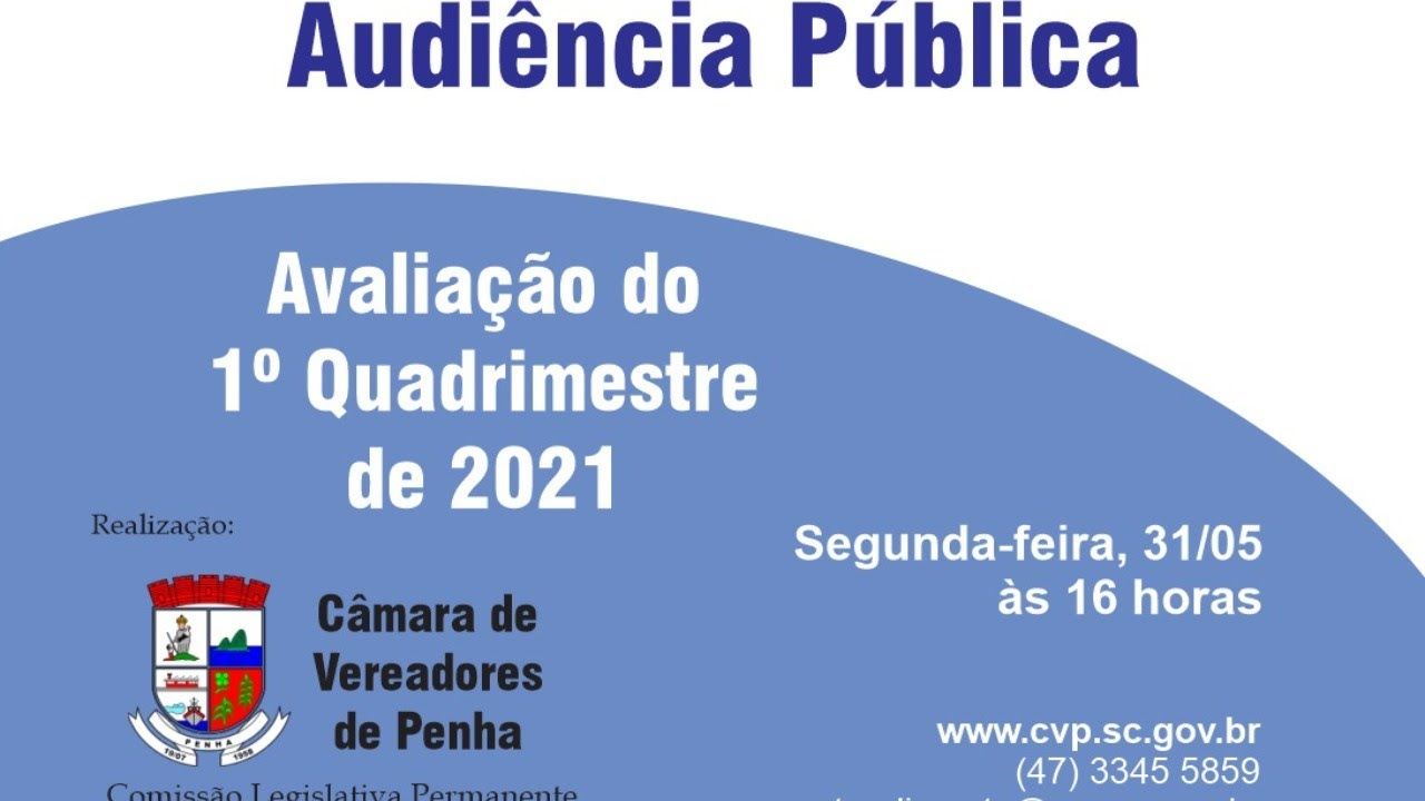 Audiência Pública - Metas Fiscais do 1º Quadrimestre de 2021