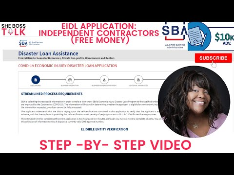EIDL APPLICATION: INDEPENDENT CONTRACTORS STEP-BY-STEP | SHE BOSS TALK