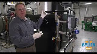 Taking Sample Water from inside the Boiler