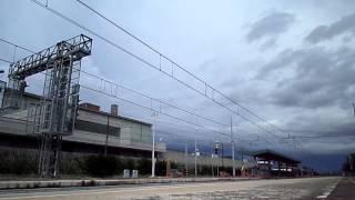 preview picture of video 'ETR 463.28 sul FB 9873 Roma Termini - Reggio Calabria Centrale, in transito a Pomezia'