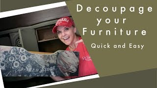 Decoupaging Furniture Drawers Quick And Easy