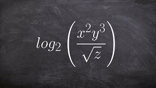 Learn how to expand a logarithmic expression with a square root