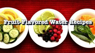 Flavored Water Recipes // Healthy And Easy Fruit Infused Water By A Dietitian