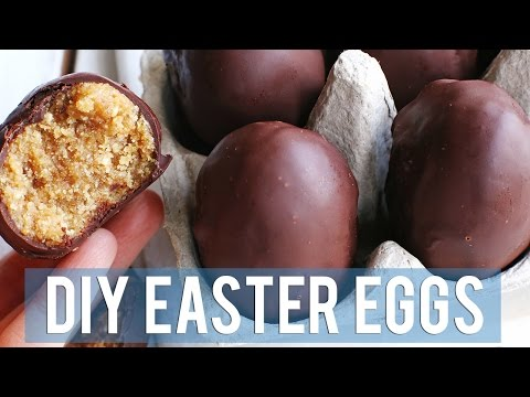 Peanut Butter Chocolate Eggs | DIY EASTER EGGS