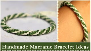 Handmade Macrame Bracelet Ideas | How To Make Bracelets At Home | DIY Jewelry | Creation&you