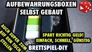 Brettspiel-DIY: Die günstigsten Aufbewahrungsboxen der Welt! Auch super zum auf den Tisch stellen!