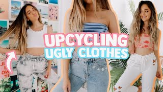 TIKTOK DIYs TO UPCYCLE YOUR CLOTHES! (making My Ugly Clothes Cute Again)