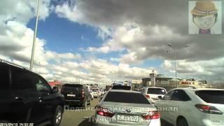 Влетел в машины на светофоре   ДТП в Астане car crash