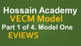 VECM. Model One. Part 1 of 4. EVIEWS