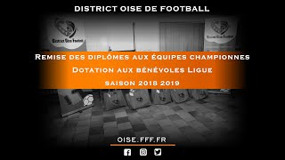 Remise des diplômes aux équipes championnes et dotations aux bénévoles Ligue