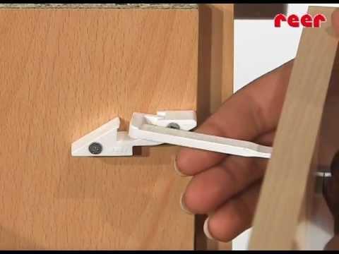 Vorschau: Schubladen Kindersicherung mit Fingerklemmschutzfuntion