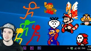 АНИМАЦИЯ против МАРИО! ► Animation vs. Super Mario Bros (official) | Реакция