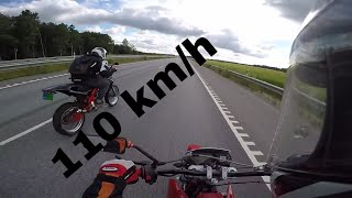 Derbi Senda & Aprilia Sx 80cc on Highway Gopro