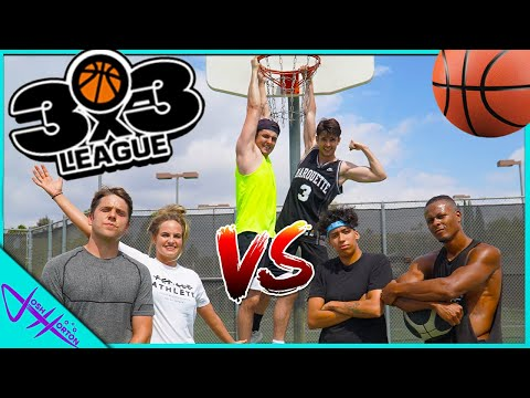YOUTUBER 3v3 BASKETBALL! (Trick Shots ONLY)