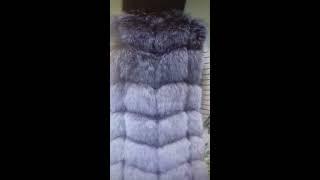 Жилет для женщин из искусственного лисьего меха-(Британский стиль). от компании Интернет-магазин-Модной дешевой одежды. - видео