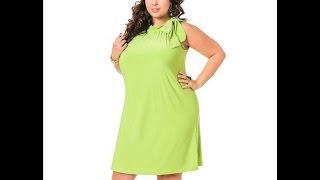 Очаровательные летние платья для полных девушек и женщин