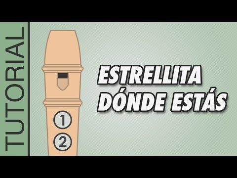 , title : 'Cómo tocar Estrellita Dónde Estás en Flauta Dulce - Canciones Fáciles - Tutorial con Notas'