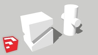 SketchUp 2015 Lessons: Cutouts & Intersecting Faces