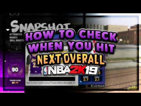 HOW TO CHECK HOW MANY BARS YOU NEED TILL YOUR NEXT OVERALL!! NBA 2K19