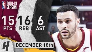 Larry Nance Jr Full Highlights Cavaliers Vs Pacers 2018.12.18 - 15 Pts, 6 Ast, 16 Rebounds!