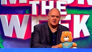 Teddy bear freaks out Dara - Mock the Week: Christmas Special Preview - BBC Two - dooclip.me