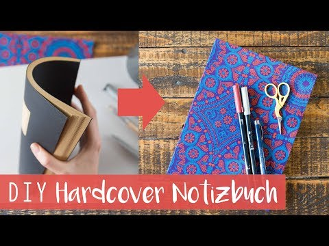 DIY Hardcover Notizbuch aus Softcover + Gewinnspiel