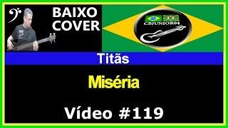 Titãs - Miséria (no BAIXO com Tablatura) bass cover tab