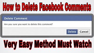 How to Delete a Comment on Facebook - facebook || how to delete comments on facebook photo