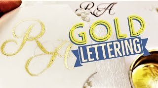 Cake! TV: Hand Painted Gold Lettering for Birthday and Wedding Cakes with Edible Paint