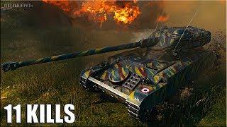 AMX 13 105 лучший КУСТОДРОТ 🌟 11 ФРАГОВ, КОЛОБАНОВ 🌟 World of Tanks бой на лт 10 франции