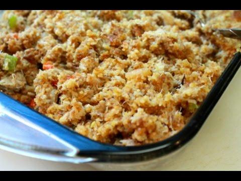 Seafood Cornbread Dressing Recipe for Thanksgiving – I Heart Recipes