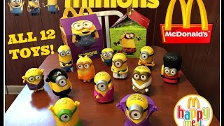 MINIONS Movie MCDONALDS Happy Meal Toys July 2015! All 12!!!