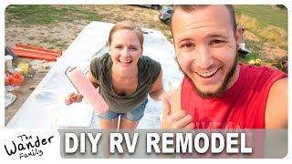 Van Life Remodel: Big RV Repair! Waterproofing and Fixing Roof   The Wander Family