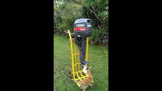 DIY Troli Stand untuk Enjin Sangkut (DIY Modified Trolley stand for outboard engine)