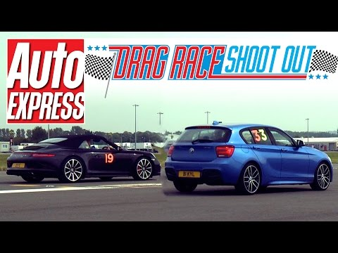Porsche 911 Cabriolet vs BMW M135i - Drag Race