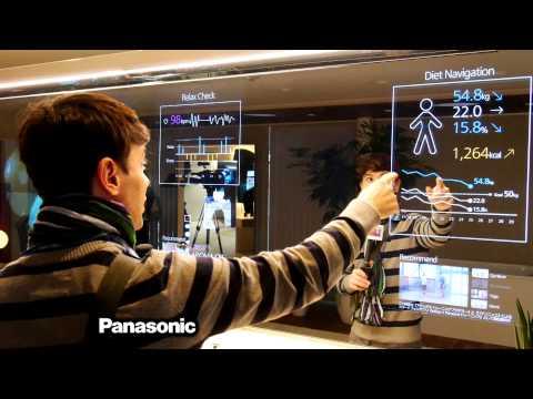 La casa del futuro (cocina, espejos y pantallas)