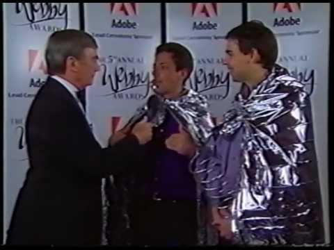 Sergey Brin And Larry Page Accept A Webby Before Google Was A Juggernaut
